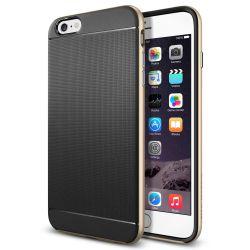 Funda con bumper tipo Neo Hybrid para iPhone 6 Plus y 6S Plus Oro