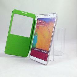 Funda Flip Cover con Ventana Samsung Galaxy Note 3 Verde