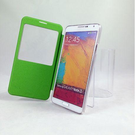 Funda Flip Cover S View Samsung Galaxy Note 3 Verde