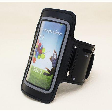 Brazalete Negro Reflectante de Neopreno para Samsung Galaxy S3 y S4