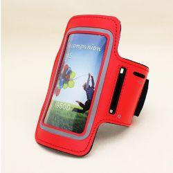 Funda Brazo Rojo Reflectante de Neopreno para Samsung Galaxy S3 y S4