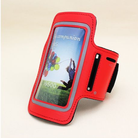 Brazalete Rojo Reflectante de Neopreno para Samsung Galaxy S3 y S4