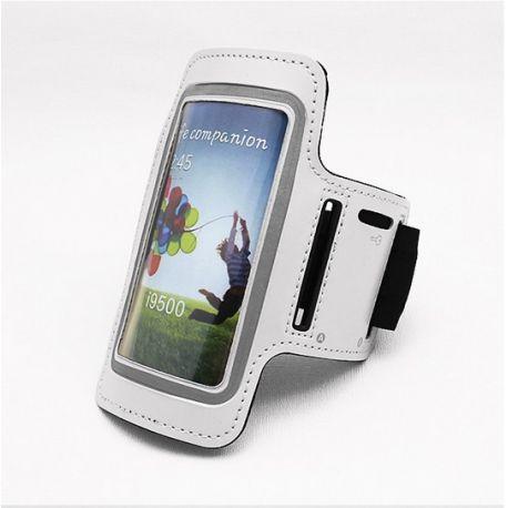 Brazalete Blanco Reflectante de Neopreno para Samsung Galaxy S3 y S4
