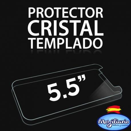 Protector de pantalla de cristal templado para Smartphones de 5,5 Pulgadas