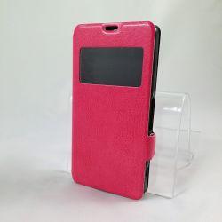Funda con Tapa y Ventana Sony Xperia Z1 Compact Rosa