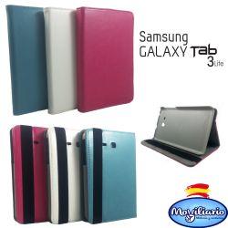 Funda tipo libro Giratoria para Samsung Galaxy Tab 3 Lite Blanco