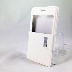 Funda con Tapa y Ventana para Sony Xperia M2 y M2 Aqua Blanco