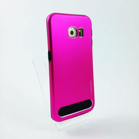 Carcasa Trasera Aluminio Motomo Rosa para Samsung Galaxy S6 Edge