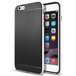 Funda con bumper tipo Neo Hybrid para iPhone 6 Plus y 6S Plus Blanco
