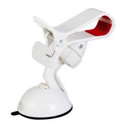 Soporte Universal para Coche tipo Pinza 360 Blanco para Smartphone Multiusos