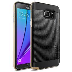 Funda tipo Neo Hybrid Carbon para Samsung Galaxy Note 5 Oro