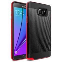 Funda tipo Neo Hybrid Carbon para Samsung Galaxy Note 5 Rojo