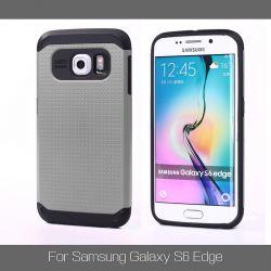Funda tipo Slim Armor para Samsung Galaxy S6 Edge Gris Plata
