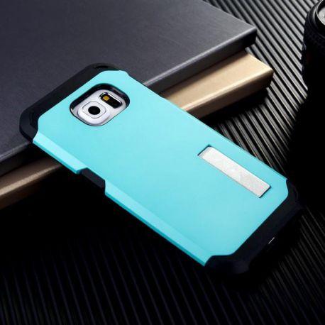 Funda tipo Tough Armor para Samsung Galaxy S6 Edge Verde Menta