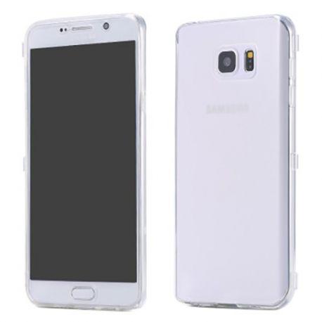Funda con Tapa de TPU para Samsung Galaxy Note 5 Transparente