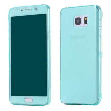 Funda con Tapa de TPU para Samsung Galaxy Note 5 Verde Turquesa