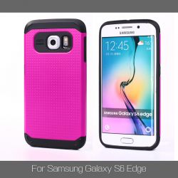 Funda tipo Slim Armor para Samsung Galaxy S6 Edge Rosa