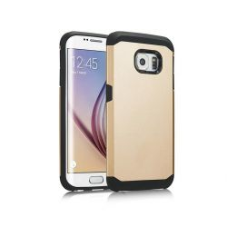 Funda trasera tipo Tough Armor para Samsung Galaxy S6 Oro