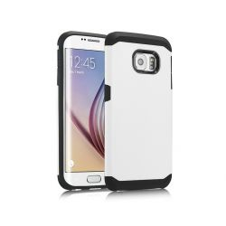 Funda trasera tipo Tough Armor para Samsung Galaxy S6 Blanco