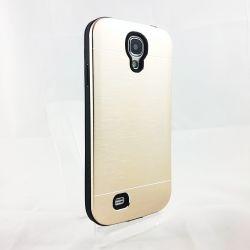 Funda trasera Youyou de Silicona y Aluminio Oro para Samsung Galaxy S4