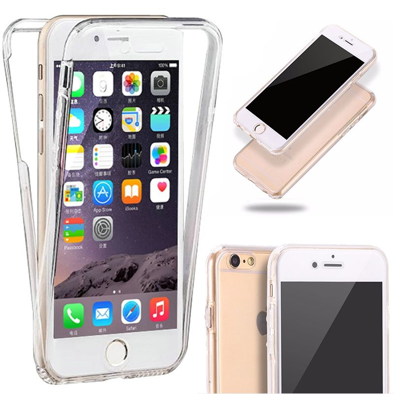 14a64384604 Funda TPU Doble Frontal Trasera 360 Ultra Fina Iphone 6 Plus y 6S Plus