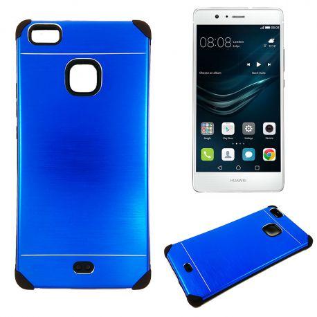 Funda trasera de Aluminio con interior Silicona Huawei P9 Lite Azul