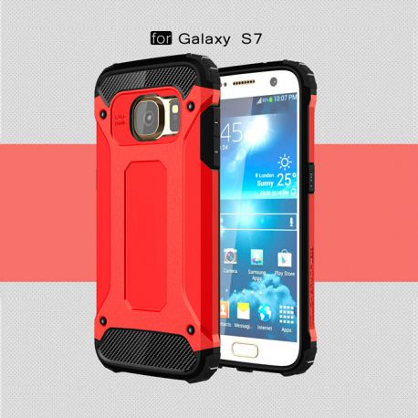 Funda tipo Tough Armor Tech para Samsung Galaxy S7 Rojo