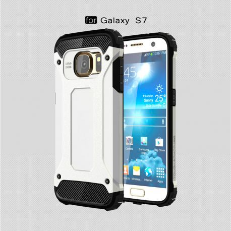 Funda tipo Tough Armor Tech para Samsung Galaxy S7 Blanco
