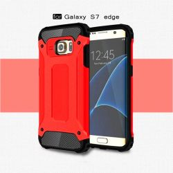 Funda tipo Tough Armor Tech para Samsung Galaxy S7 Edge Rojo