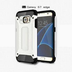 Funda tipo Tough Armor Tech para Samsung Galaxy S7 Edge Blanco