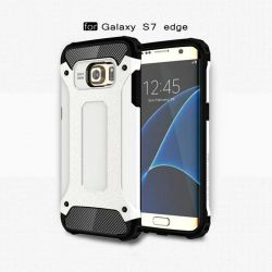 Funda tipo Tough Armor Tech para Samsung Galaxy S7 Edge Blanco