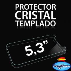 Protector Pantalla Cristal Templado Universal Móviles de 5,3 Pulgadas