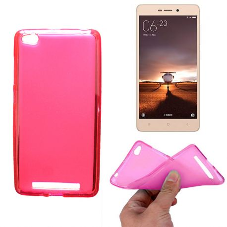 Funda de TPU Mate Lisa para Xiaomi Redmi 3 Silicona Rosa