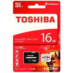 Tarjeta de Memoria Mcro SD 16GB Toshiba Exceria Clase 10 + Adaptador SD