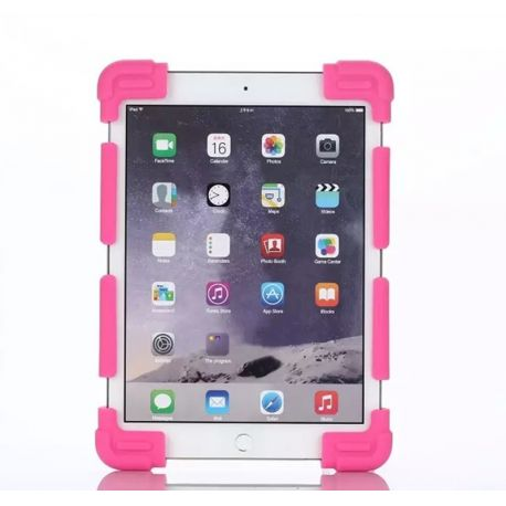 Funda Universal Silicona Soporte para Tablet de 9 a 12 Pulgadas Rosa