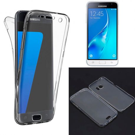 Funda TPU Doble Frontal Trasera 360 Ultra Fina Samsung Galaxy J3 2016