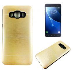 Funda trasera Aluminio y TPU Samsung Galaxy J5 2016 Oro Metal