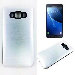 Funda trasera Aluminio y TPU Samsung Galaxy J5 2016 Plata Metal
