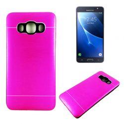 Funda trasera Aluminio y TPU Samsung Galaxy J5 2016 Rosa Metal