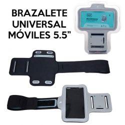 Brazalete Universal Gris Móviles de 5.5 Pulgadas Funda Brazo Correr
