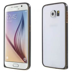 Bumper de metal Negro y Dorado con cierre para Samsung Galaxy S6