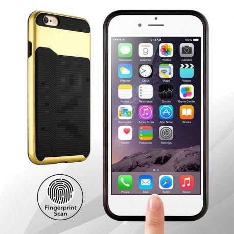 Funda de TPU + PC Hibrida con bumper para iPhone 6 y 6S Dorado - Oro