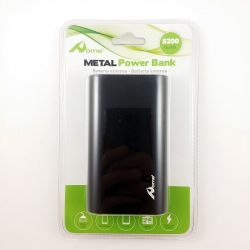 Bateria Externa PB212 Metal Power Bank Negro 5200 mAh + Cable Usb
