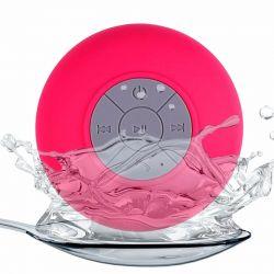 Altavoz Bluetooth con ventosa resistente al agua ideal Ducha Rosa