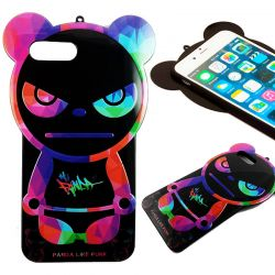 Funda TPU Oso Panda Like Punk para iPhone 7 Halloween Silicona Colores