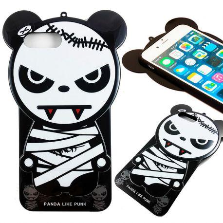 Funda TPU Oso Panda Like Punk para iPhone 7 Halloween Silicona Momia