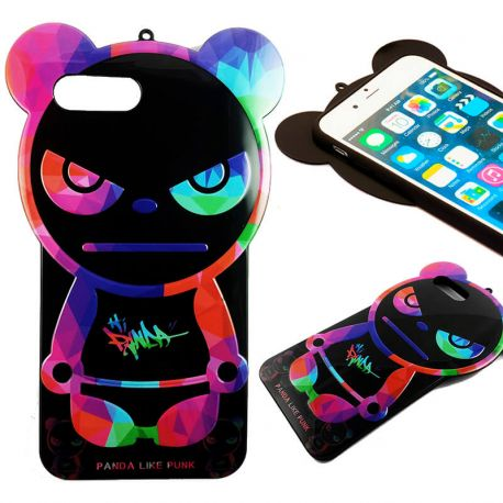 Funda TPU Oso Panda Like Punk iPhone 7 Plus Halloween Silicona Colores