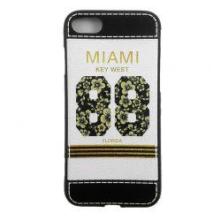 Funda TPU relieve Miami Key West 88 Florida para iPhone 7 / 8 Blanco