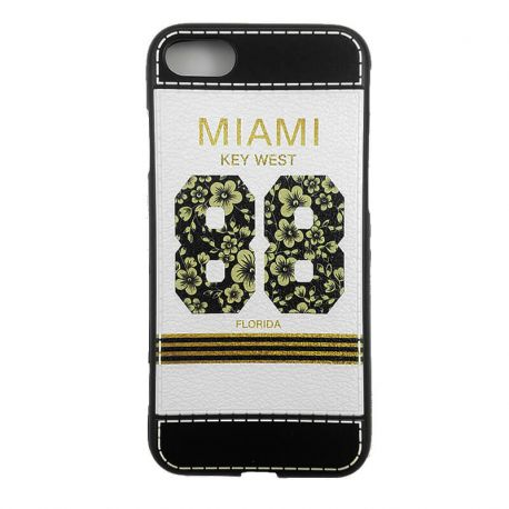 Funda TPU con relieve Miami Key West 88 Florida iPhone 6 y 6S Blanco
