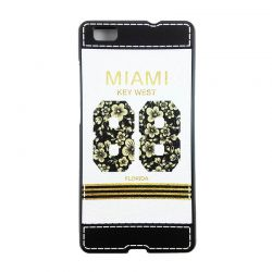 Funda TPU con relieve Miami Key West 88 Florida Huawei P8 Lite Blanco